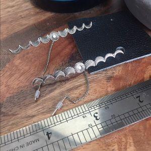 Free People Silver Moon Threader Earrings